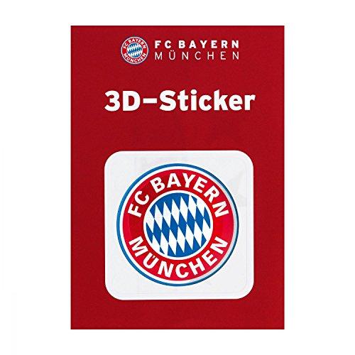 FC Bayern München Autoaufkleber, Sticker, Aufkleber 3D Logo rot - Plus Lesezeichen I Love München