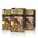 Syoss Oleo Intense - Tono 8-05 Rubio Beige (Pack De 3) – Coloración permanente sin amoníaco – Resultados de peluquería – Cobertura profesional de canas