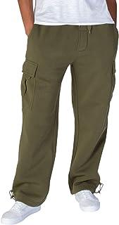 Kayden K. Men's Heavyweight Fleece Loose Fit Cargo Sweatpants