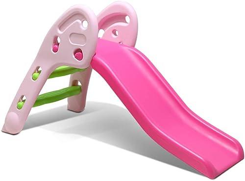 Esels Kinderspielzeug Rutsche für Outdoor und Indoor Kinder Rutsche Spielplatz Spielplatz Garten Folie Kunststoff (Farbe   Rosa, Größe   120 x 30 x 70)