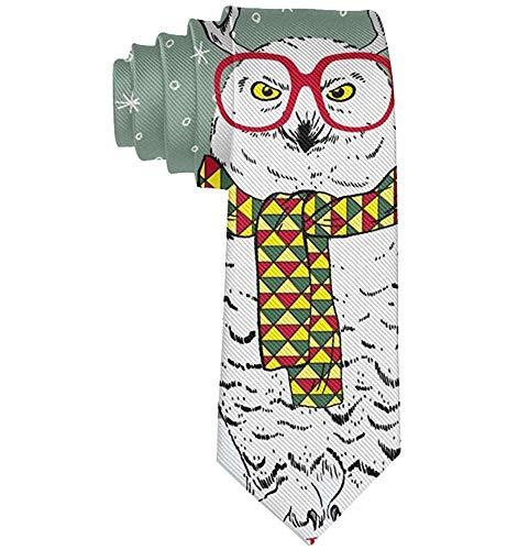 Männer Casual Party Krawatten, Business Meeting Hochzeitsanzug Krawatte, Cartoon Sonnenbrille Eule mit Hirschhorn Krawatte
