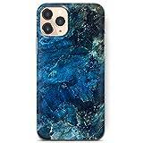 Funda de gel de impresión azul/mármol para iPhone 5c modelo
