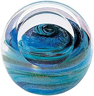 Glass Eye Studio Uranus Blown Glass Paperweight
