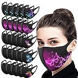 YusellYu_5/10/25PCS Impresiones para Adultos Protección Facial Gancho Lavable Industria, Empresas y Ciencia (25 Piezas)