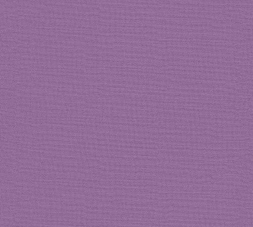 A.S. Création Vliestapete Linen Style Tapete Uni 10,05 m x 0,53 m lila Made in Germany 367615 36761-5