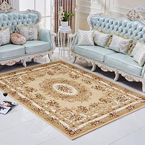 carpet Tapis Durable de Style européen 3D Solide Tapis Tapis de Vie Salon Chambre canapé canapé Tapis de Chevet Maison Tapis Quotidien,0.8 * 1.5m,Bleu
