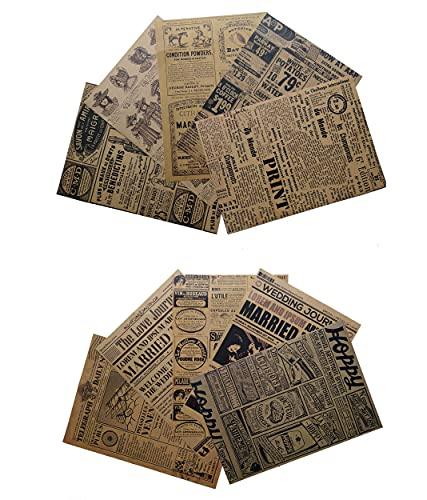 Set Creativo Papel Kraft Vintage para Scrapbooking manualidades y collages 10 unidades 21x15 centímetros