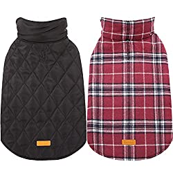 Kuoser British Style Reversible Plaid Dog Vest.