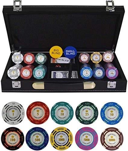 Texas Hold'em Poker Fichas de póker con Maleta de Cuero PU-Maleta y Tela Dólar Poker Chip Clay Clasino Chips 200/300/400 / 500pcs / Set (Color: 500pcs Cuero)