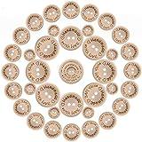 Spencer 300 botones de costura de madera hechos a mano con amor redondo decoración artesanal, 2 agujeros para coser manualidades de botón DIY (0,6/0,79/1')