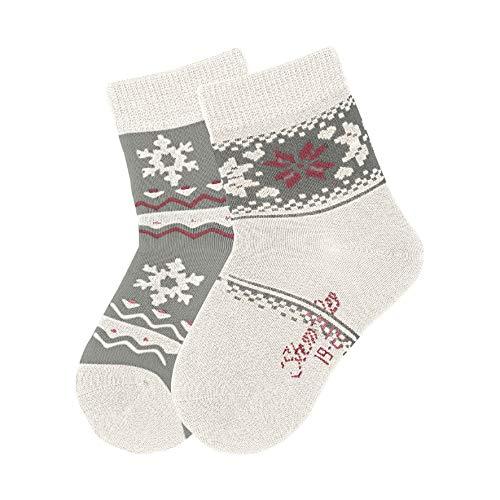 Sterntaler Baby - Mädchen Socken Söckchen 2er Pack Folkore, Beige (Ecru 903), 15-16