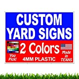 VIBE INK 50 Pack of 18 x 24' Two-Colors (2) Custom Front & Back (2) Sided Yard Signs Printing