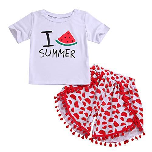 Poachers Poachers Neugeborenes Baby MäDchen Wassermelone Print Tops Shirt + Kurze Hosen Outfits Sets