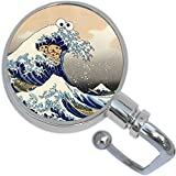 The Great Wave Cookie Monster Purse Hanger and Pouch