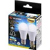 アイリスオーヤマ LED電球 口金直径17mm 広配光 40W形相当 昼白色 2個パック 密閉器具対応 LDA4N-G-E17-4T62P