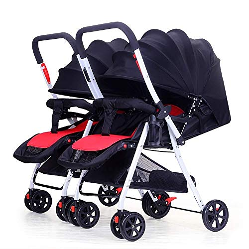 Fantastic Deal! Pliuyb Twin Baby Stroller,Double Infant Trolley Detachable Reversing Lightweight Fol...