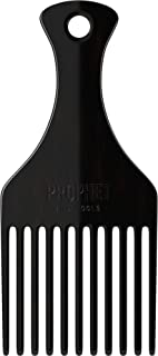 The Afro Beard Comb For Detangling & Brushing Long Beards | Separates Thick, Coarse & Knotted Facial Hairs and Mustache | Wet or Dry Grooming | Acetate Made, Stronger than Plastic | Prophet and Tools