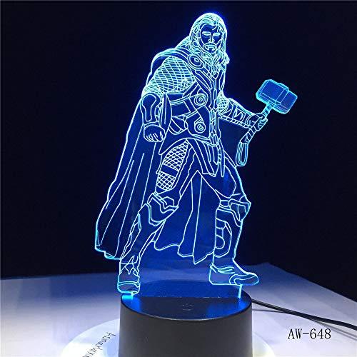 (Nur 1) Superheld Film Charakter 7 Farbwechsel LED 3D Nachtlicht leuchtende Kinder Kinder Film Fan Tisch Tisch Schlafzimmer Lampe Geschenk