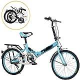 STRTG Bicicleta Plegable, Bikes Plegable Urbana+Adultos Bicicleta Plegable de Aluminio,20 Pulgadas Unisex Adulto Bikes,para Transporte en Coche, autobús, Transporte público,