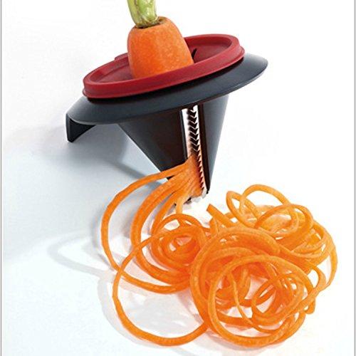 Carrot and Gurke Curler Peeler, Carrot Spiral Shred Slicer Root Vegetables Fruits Slicer Sharpener Garnishing Tool