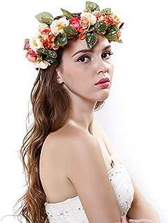 Winslet Fascia dei fiori dei capelli della ghirlanda di nozze floreali della corona della fascia della corona del fiore de...