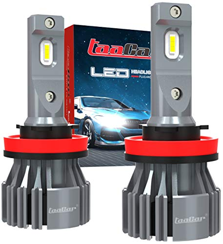 Bombilla H11 LED Canbus 12000LM 6500K, 3 Años de Garantía, H8 H9 LED TAACAR.