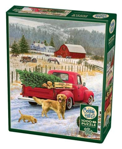 Cobble Hill 1000 Piece Puzzle - Christmas on the Farm - Sample Poster Included
