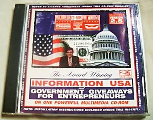 Information USA Government Giveaways for Entrepreneurs Matthew Lesko Multimedia 2 in 1 CD ROM product image