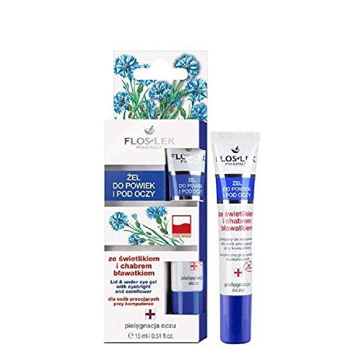 Floslek Pharma Augen-Gel für Augenlid/Augentaschen gegen Schwellung - 15 ml