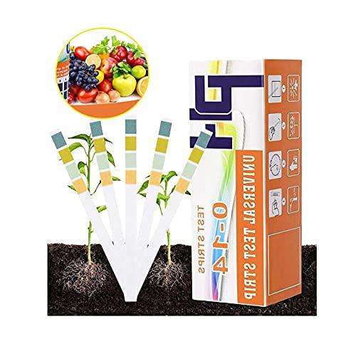 WWYX Boden PH Teststreifen,PH Pflanze Tester,Boden-pH-Tester,0-14 PH Pflanze Tester für Pflanzenerde,Blumenerde, Gartenarbeit, Hof, Rasen, Blumentester(150 Streifen)