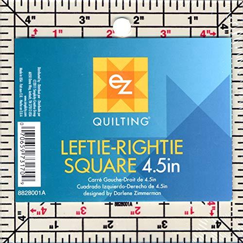 EZ Quilting 8828001A Patchwork-Vorlage für Quadrate, Links-rechts, aus Acryl, 11,4cm