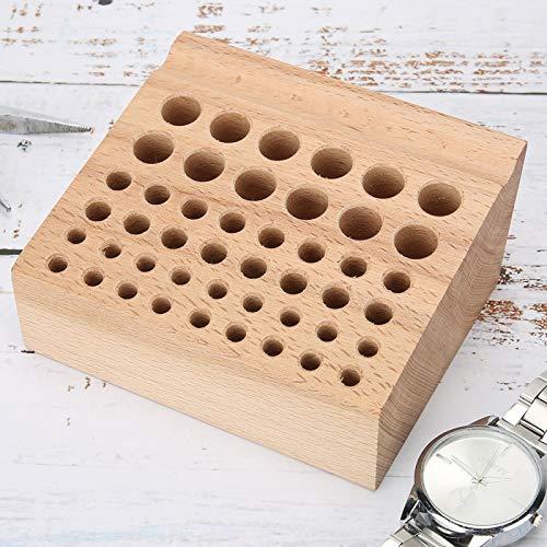DAUERHAFT Estante en Uso confiable de Las Herramientas del Reloj del Organizador de Las Herramientas del Reloj con el Material de Madera