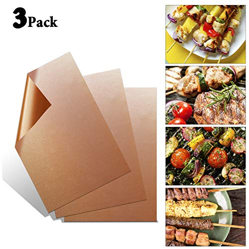 Why Should You Buy Socanby Copper Grill Mat Set of 3,Non-Stick Gold BBQ Baking Mat-Reusable and Easy...