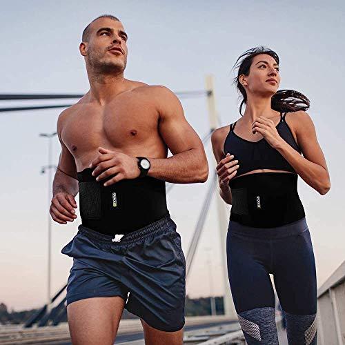 BRACOO Fitnessgürtel – Damen & Herren – Hot Belt – Schwitzgürtel – Waist Trimmer | Schnell & Einfach Abnehmen mit dem Bauchweggürtel - 7