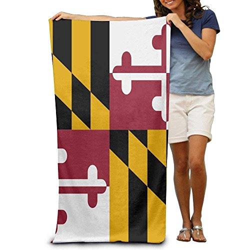 N\A Flag Toalla de Playa para Mujer de Maryland, Toalla de Piscina, Toalla Deportiva, Gruesa, Suave, de Secado rápido, Ligera, Absorbente