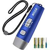 ANIZR Electronic Whistles with Lanyard,Adjustable 3 Tone & 3 High Volume Hand Emergency Whistle Basketball Referee Whistle for Coach,Teacher,Police,Outdoor Camping Boating Hiking,Blue (with Battery)