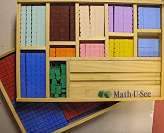 Math U See Manipulatives Starter Set and Completer Set with Wooden Storage Boxes