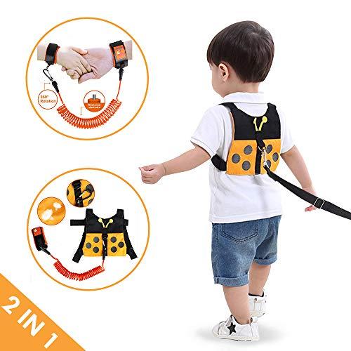 Lehoo Castle Correa para niños pequeños para caminar, arneses de seguridad para niños pequeños, arnés de seguridad con cerradura para...
