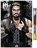 Trends International Poster Clip WWE - Roman Reigns 16, 22.375' x 34', Premium Poster & Clip Bundle