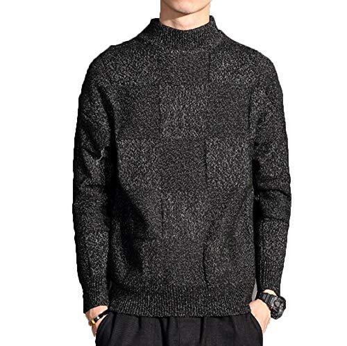 Men Cashmere Sweater Pullovers Sweaters Men Outwear Turtleneck Sweaters Winter Warm Sweaters Black XL