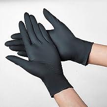 Luva De Nitrilo Luvas 100Pcs Pretas Luvas De Proteção Para Cozinha Trabalho Mão Produtos De Limpeza Doméstica Luvas Descar...
