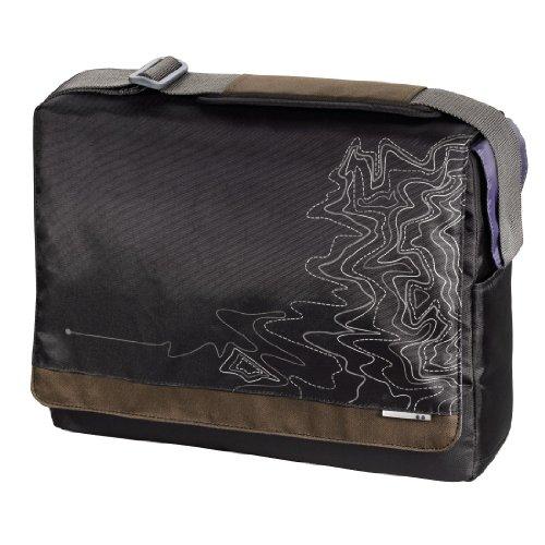 aha: Notebook-Messenger Tasche Lines bis 44 cm (17,3 Zoll) schwarz