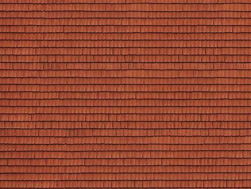 NOCH 0056670 Universell 3D-Kartonplatte Ziegel rot