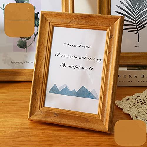 LZYMLG Marco de fotos de 8,8 x 12,8 cm para pared de 1 unidad, marco de madera natural con cristal plexiglás para impresión de certificado fotográfico, exhibición colgante vertical u horizontal