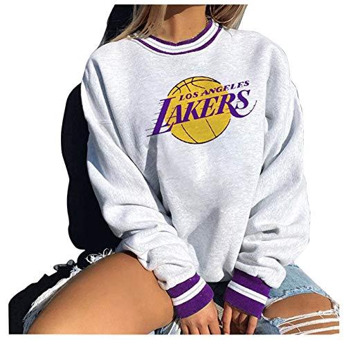 FDRYA Sudadera Sudadera con Capucha Camiseta de Camiseta de Baloncesto para Mujer - Jersey con Capucha Suelta Ropa de Baloncesto Sudadera Traje de Entrenamiento Deportivo 4-M