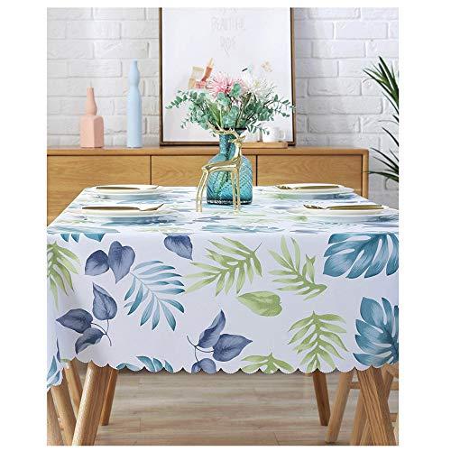 WUJIANCHAO PVC Wasserdichte Tischdecken Plant Pastoral Tischdecke Hintergrundtuch Plastiktischdecke Home Decor Manteles Mesa Tischdecken Style-03 80x120cm