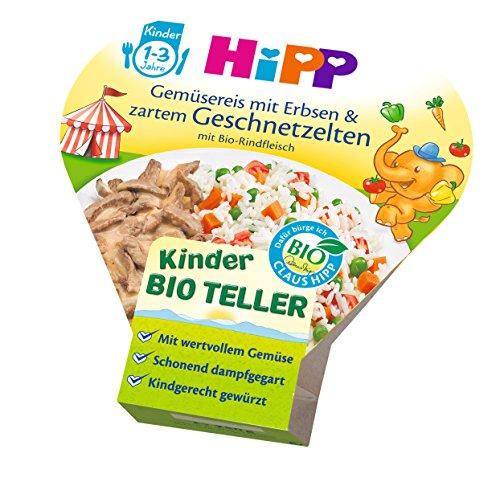 HiPP Gemüsereis mit Erbsen und zartem Geschnetzeltem Bio, 6er Pack (6 x 250 g)