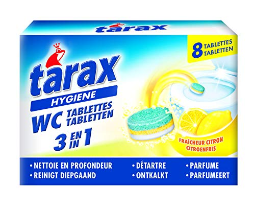 Tarax–Tablets WC Triple Action–8Doses/200G––Juego de 4