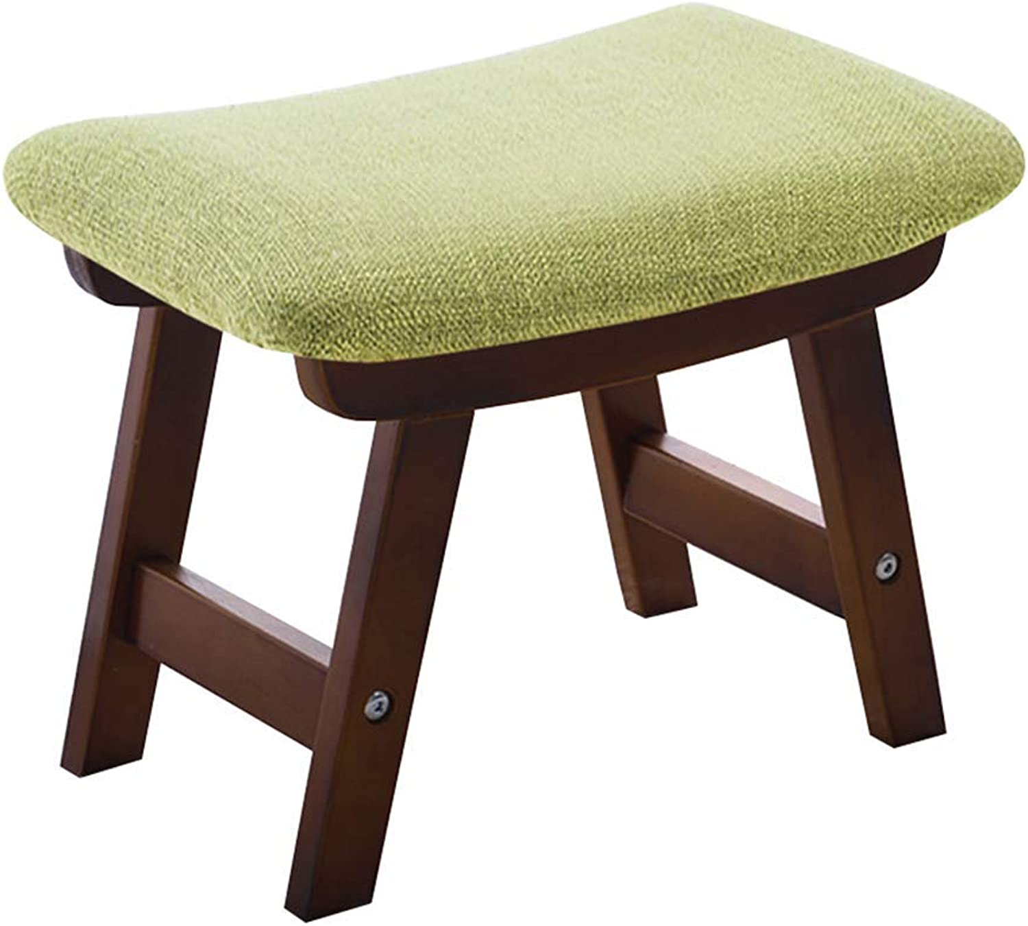 BBG Fashion Creative Small Furniture Anti-Slip Stool Simple Modern Solid Wood Stool Rectangular Bench Fabric Home Change shoes Bench Multifunction Household Creative