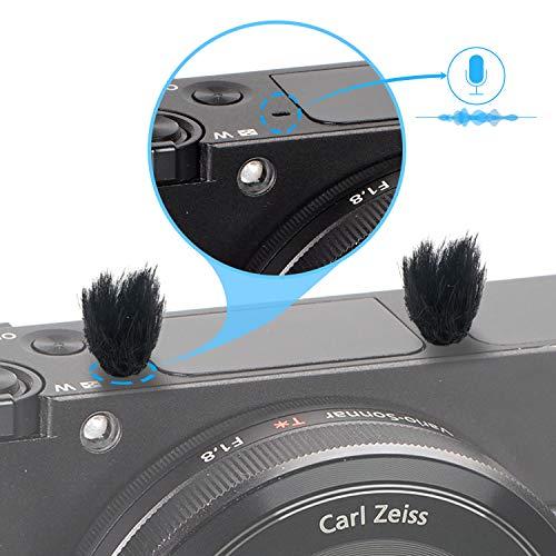 Kamera Mikrofon Windschutz, 10 PCS Fell Wind Muff Windschutz für Sony RX1 RX10 RX100 Digitale Kompaktkameras Eingebautes Mikrofon Außenwindfilter von YOUSHARES